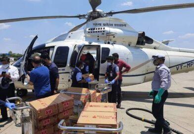 Covid 19 : इंदौर हवाई अड्डे से रेमडेसिवीर इंजेक्शन को ग्वालियर, ढाना और भोपाल पहुंचाया गया