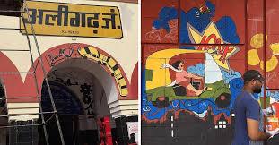 मोदी ने मन की बात में अलीगढ़ स्टेशन की जिन कलाकृतियों की तारीफ की थी, उन पर रेलवे ने पुतवाया दिया पेंट