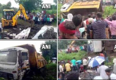 महाराष्ट्र में बड़ा सड़क हादसाः लोहे के सरिए से भरा ट्रक पलटा, 13 की मौत, सभी MP के