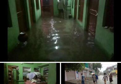 बारिश ने तोड़े पिछले सभी रिकार्ड, 11 इंच से अधिक हुई बरसात, निचली बस्तियों में भरा पानी, कई जगह गिरे मकान